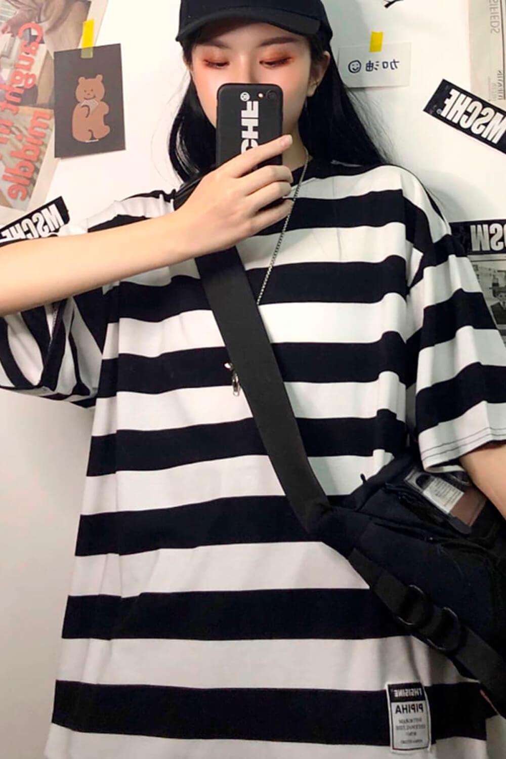Thick Striped Oversized T-Shirt