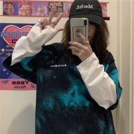 Tie Dye Core Fake Long Sleeve T-Shirt 2 - Orezoria Aesthetic Outfits Shop - Aesthetic Clothing - eGirl Outfits - Soft Girl Outfits.psd