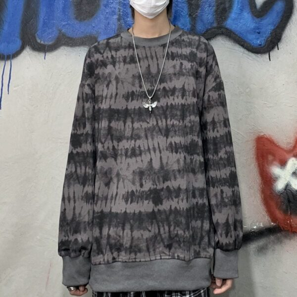 Tie Dye Hedging Sweatshirt Korean Style - Orezoria Aesthetic Outfits Shop - Aesthetic Clothing - eGirl Outfits - Soft Girl Outfits.psd