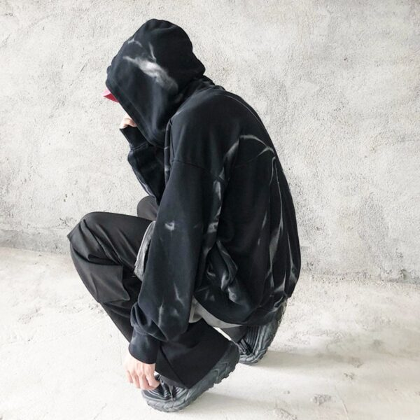 Tie Dye Spiral Dark Core Unisex Hoodie 5- Orezoria Aesthetic Outfits Shop - Aesthetic Clothing - eGirl Outfits - Soft Girl Outfits