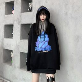 Tired Care Bear Oversized Hoodie 1 - Orezoria Aesthetic Outfits Shop - Aesthetic Clothing - eGirl Outfits - Soft Girl Outfits