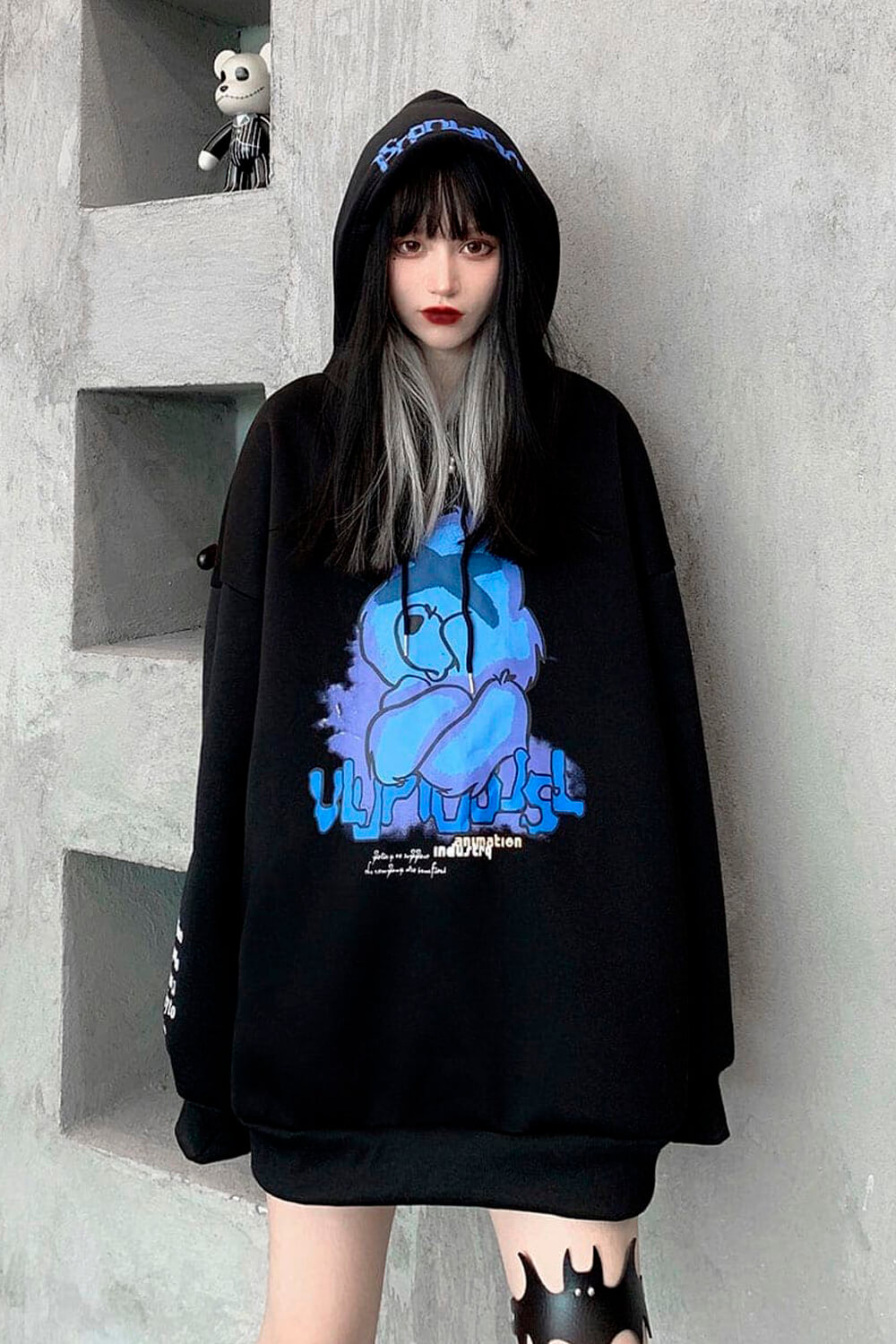 Tired Care Bear Oversized Hoodie