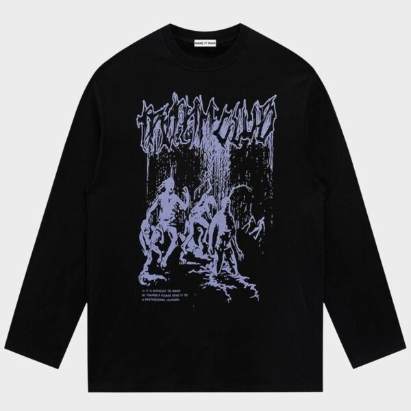 Trivial Club Demons Long Sleeve Top - Orezoria Aesthetic Outfits Shop - Aesthetic Clothing - eGirl Outfits - Soft Girl Outfits.psd