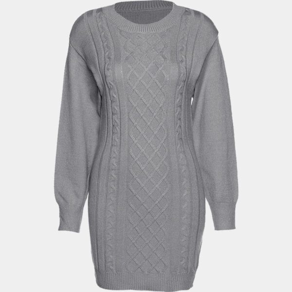 Twisted Lines Knitted Long Sleeve Dress 44 - Orezoria Aesthetic Outfits Shop - Aesthetic Clothing - eGirl Outfits - Soft Girl Outfits.psd