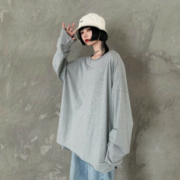 Two Piece Loose Irregular Hoodless Sweater - Orezoria Aesthetic Outfits Shop - Aesthetic Clothing - eGirl Outfits - Soft Girl Outfits.psd
