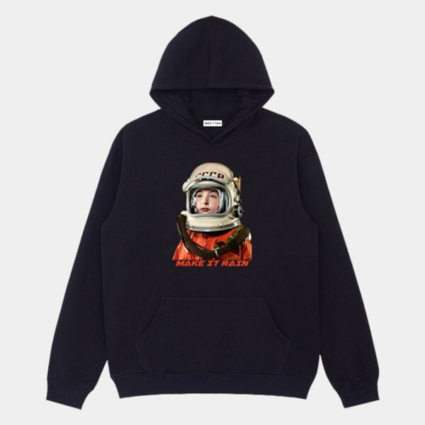USSR Retro Сosmonaut Hoodie 1- Orezoria Aesthetic Outfits Shop - Aesthetic Clothing - eGirl Outfits - Soft Girl Outfits