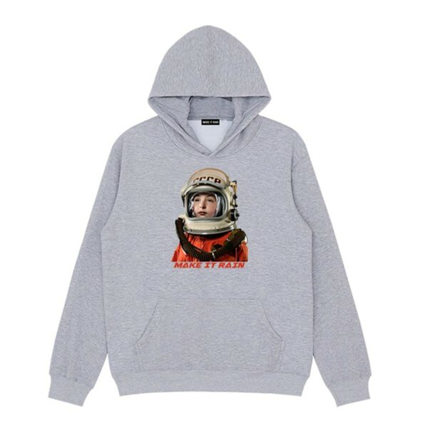 USSR Retro Сosmonaut Hoodie 3- Orezoria Aesthetic Outfits Shop - Aesthetic Clothing - eGirl Outfits - Soft Girl Outfits