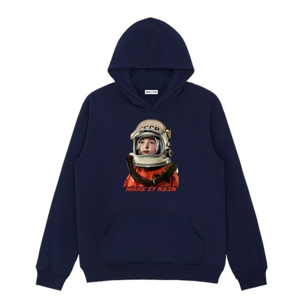 USSR Retro Сosmonaut Hoodie 4- Orezoria Aesthetic Outfits Shop - Aesthetic Clothing - eGirl Outfits - Soft Girl Outfits