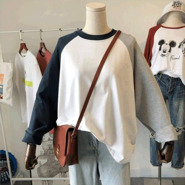 Ulzzang Aesthetic Raglan Long Sleeve - Orezoria Aesthetic Outfits Shop - Aesthetic Clothing - eGirl Outfits - Soft Girl Outfits.psd