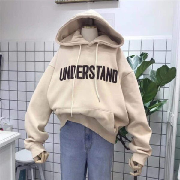 Understand Embroidery Loose Korean Hoodie - Orezoria Aesthetic Outfits Shop - Aesthetic Clothing - eGirl Outfits - Soft Girl Outfits.psd