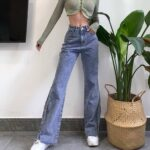 Vintage Washed Jeans Tall Aesthetic 1 - Orezoria Aesthetic Outfits Shop - Aesthetic Clothing - eGirl Outfits - Soft Girl Outfits.psd