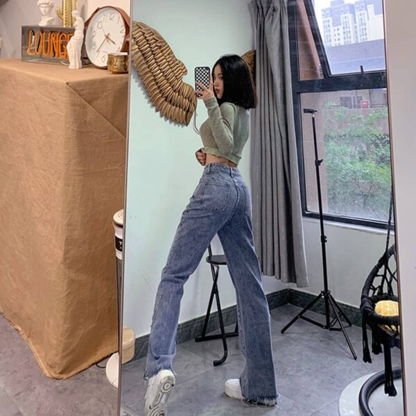 Vintage Washed Jeans Tall Aesthetic 2 - Orezoria Aesthetic Outfits Shop - Aesthetic Clothing - eGirl Outfits - Soft Girl Outfits.psd