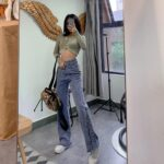 Vintage Washed Jeans Tall Aesthetic 3 - Orezoria Aesthetic Outfits Shop - Aesthetic Clothing - eGirl Outfits - Soft Girl Outfits.psd