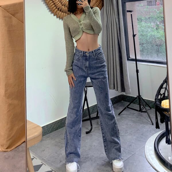 Vintage Washed Jeans Tall Aesthetic 4 - Orezoria Aesthetic Outfits Shop - Aesthetic Clothing - eGirl Outfits - Soft Girl Outfits.psd