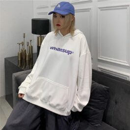 Whatsup Oversized Hoodie Korean Style - Orezoria Aesthetic Outfits Shop - Aesthetic Clothing - eGirl Outfits - Soft Girl Outfits.psd
