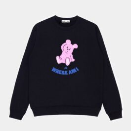 Where am I Pink Bear Sweatshirt- Orezoria Aesthetic Outfits Shop - Aesthetic Clothing - eGirl Outfits - Soft Girl Outfits