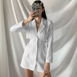White Merged Skirt Top Onesie 1- Orezoria Aesthetic Outfits Shop - Aesthetic Clothing - eGirl Outfits - Soft Girl Outfits