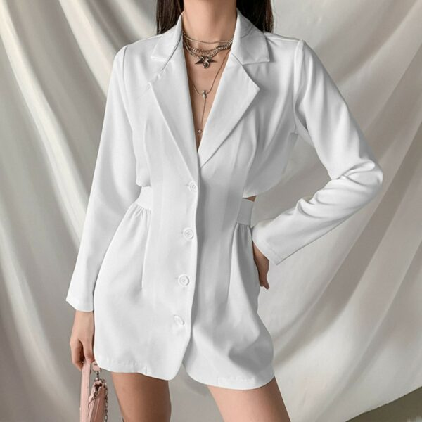 White Merged Skirt Top Onesie 3- Orezoria Aesthetic Outfits Shop - Aesthetic Clothing - eGirl Outfits - Soft Girl Outfits
