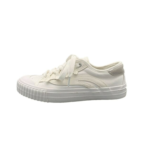 White Retro Aesthetic Canvas Shoes 5- Orezoria Aesthetic Outfits Shop - Aesthetic Clothing - eGirl Outfits - Soft Girl Outfits