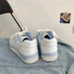 White Retro Y2K Aesthetic Sneakers.1- Orezoria Aesthetic Outfits Shop - Aesthetic Clothing - eGirl Outfits - Soft Girl Outfits
