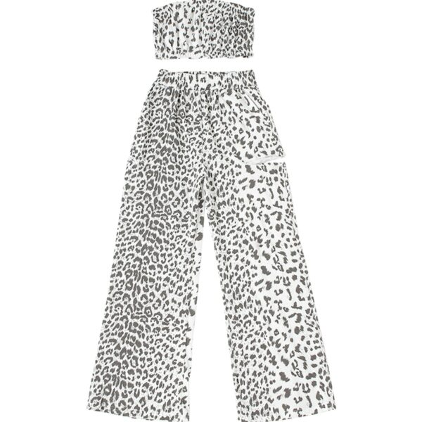 White Snow Leopard Loose Aesthetic Pants 4 - Orezoria Aesthetic Outfits Shop - Aesthetic Clothing - eGirl Outfits - Soft Girl Outfits