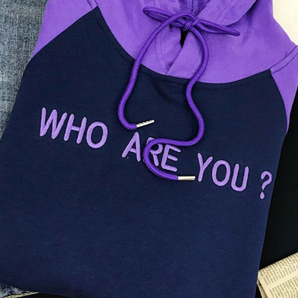 Who Are You Purple Raglan Hoodie 4 - Orezoria Aesthetic Outfits Shop - Aesthetic Clothing - eGirl Outfits - Soft Girl Outfits.psd