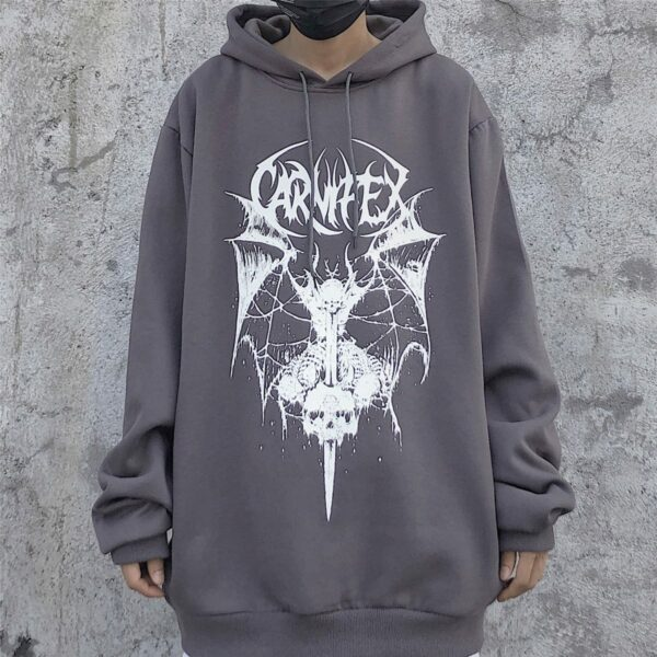 Winged Demon Core Black Aesthetic Hoodie 2 - Orezoria Aesthetic Outfits Shop - Aesthetic Clothing - eGirl Outfits - Soft Girl Outfits