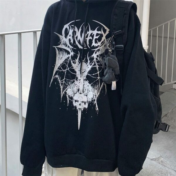 Winged Demon Core Black Aesthetic Hoodie 3 - Orezoria Aesthetic Outfits Shop - Aesthetic Clothing - eGirl Outfits - Soft Girl Outfits