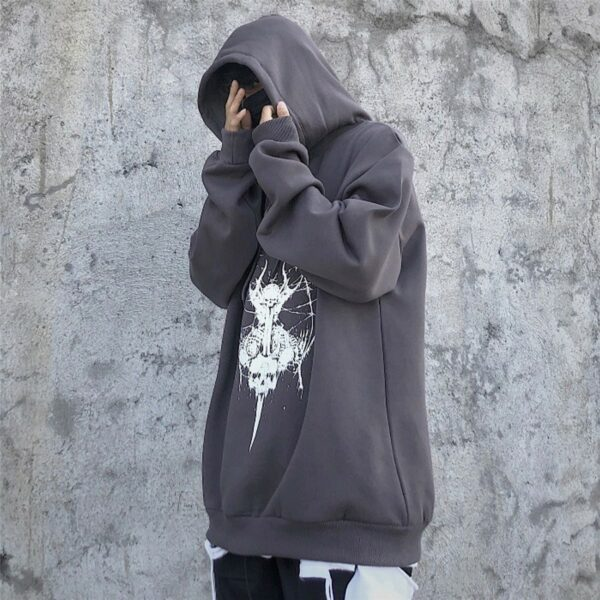 Winged Demon Core Black Aesthetic Hoodie 4 - Orezoria Aesthetic Outfits Shop - Aesthetic Clothing - eGirl Outfits - Soft Girl Outfits