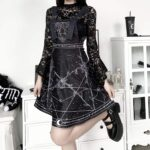 Witchcraft Aesthetic Suspender Dress 3- Orezoria Aesthetic Outfits Shop - Aesthetic Clothing - eGirl Outfits - Soft Girl Outfits