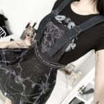 Witchcraft Aesthetic Suspender Dress 4- Orezoria Aesthetic Outfits Shop - Aesthetic Clothing - eGirl Outfits - Soft Girl Outfits