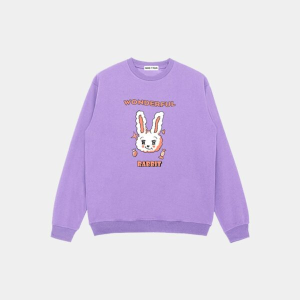 Wonderful Rabbit Cute Loose Sweatshirt 11 - Orezoria Aesthetic Outfits Shop - Aesthetic Clothing - eGirl Outfits - Soft Girl Outfits.psd
