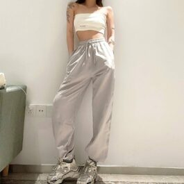 Workout Goals Loose Hip Hop Sweatpants 1- Orezoria Aesthetic Outfits Shop - Aesthetic Clothing - eGirl Outfits - Soft Girl Outfits