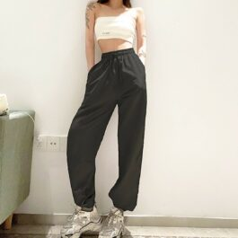 Workout Goals Loose Hip Hop Sweatpants 2- Orezoria Aesthetic Outfits Shop - Aesthetic Clothing - eGirl Outfits - Soft Girl Outfits