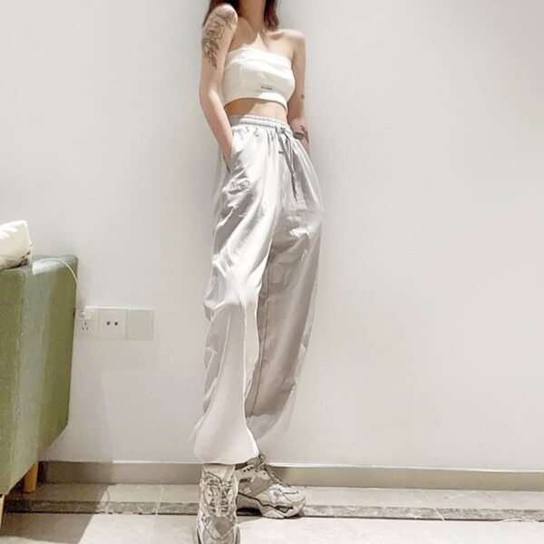 Workout Goals Loose Hip Hop Sweatpants 3- Orezoria Aesthetic Outfits Shop - Aesthetic Clothing - eGirl Outfits - Soft Girl Outfits