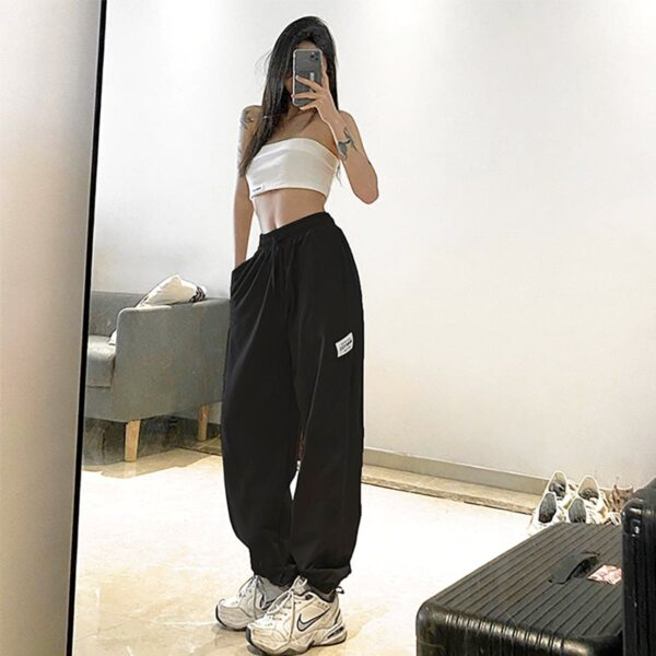 Workout Goals Loose Hip Hop Sweatpants 4- Orezoria Aesthetic Outfits Shop - Aesthetic Clothing - eGirl Outfits - Soft Girl Outfits