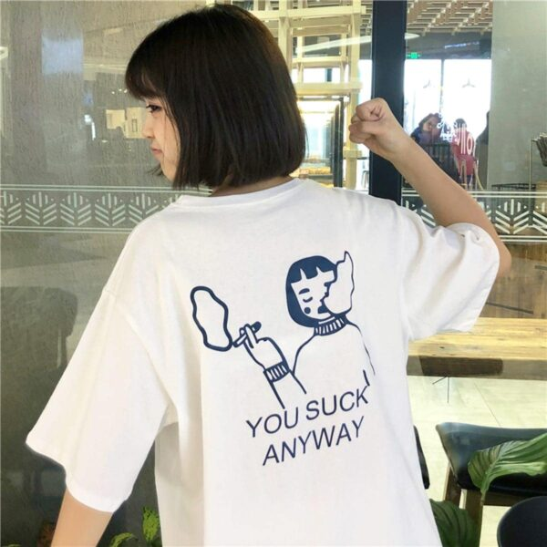 You Suck Anyway Oversized EGirl T-Shirt 3 - Orezoria Aesthetic Outfits Shop - Aesthetic Clothing - eGirl Outfits - Soft Girl Outfits