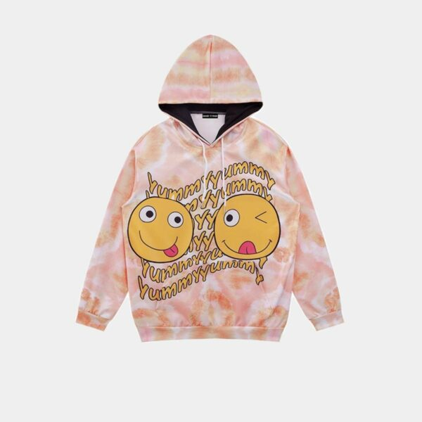 Yummy Pearl Color Tie Dye Hoodie.1- Orezoria Aesthetic Outfits Shop - Aesthetic Clothing - eGirl Outfits - Soft Girl Outfits