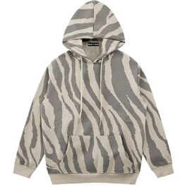 Zebra Pattern Oversized Korean Hoodie 1 - Orezoria Aesthetic Outfits Shop - Aesthetic Clothing - eGirl Outfits - Soft Girl Outfits