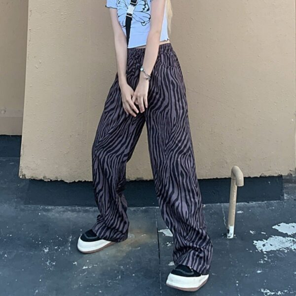 Zebra Pattern Super Wide Y2K Pants - Orezoria Aesthetic Outfits Shop - Aesthetic Clothing - eGirl Outfits - Soft Girl Outfits.psd