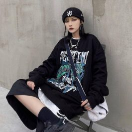 Zombie Hands Destiny Loose Sweatshirt.1- Orezoria Aesthetic Outfits Shop - Aesthetic Clothing - eGirl Outfits - Soft Girl Outfits