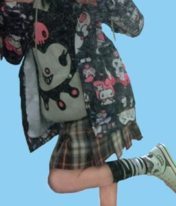 Kuromi Printed Hoodie Onegai My Melody photo review