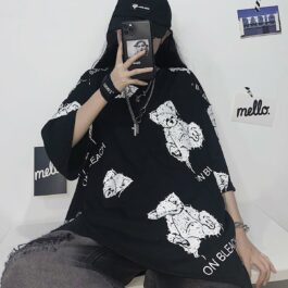 Bleach Bears Oversized Korean T-Shirt