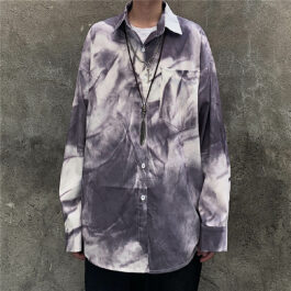 Crumpled Tie Dye Shirt Korean Grunge
