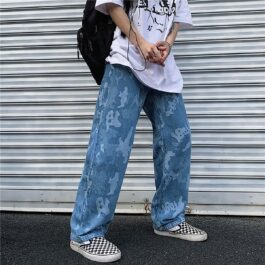 Denim Camo Korean Grunge Jeans