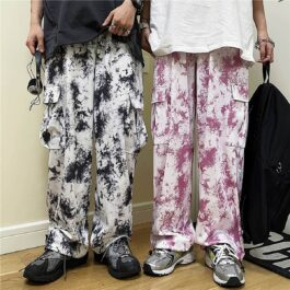 Korean Grunge Plague Tie Dye Pants