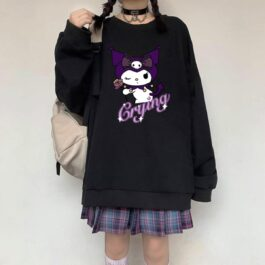 Kuromi Crying Sweatshirt EGirl Aesthetic