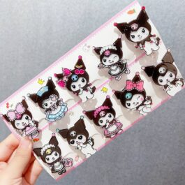 Kuromi Hair Pins Set Kawaii Aesthetic