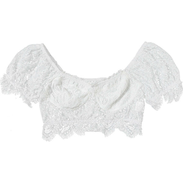 Off Shoulder French Cropped Laced Tops