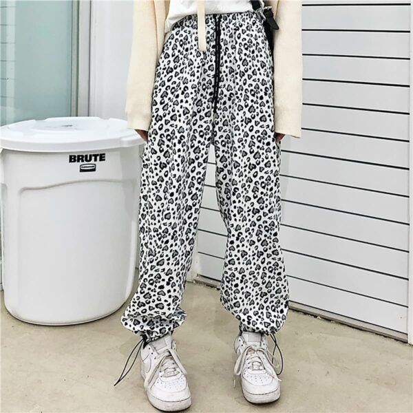 White Leopard Pants Korean Aesthetic
